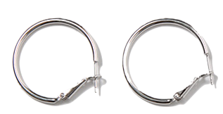 Hook circle earring_S (size : one)