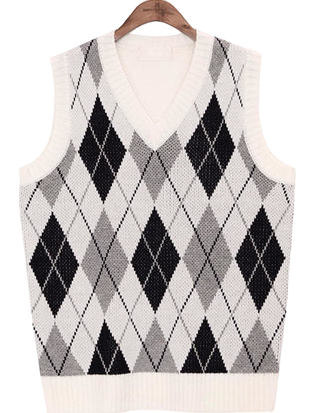 POSH ARGYLE V NECK VEST