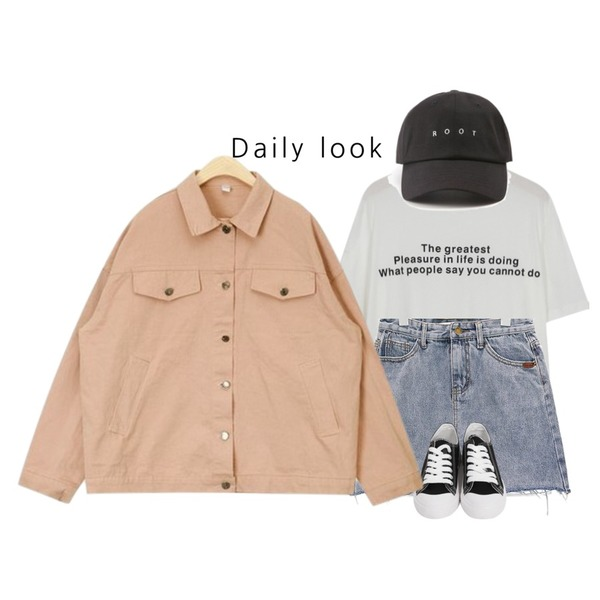 ROCOSIX root point cap,From Beginning Great lettering half T_H (size : free),common unique [SKIRT] ROUGH CUT-OFF DENIM MINI SKIRT등을 매치한 코디