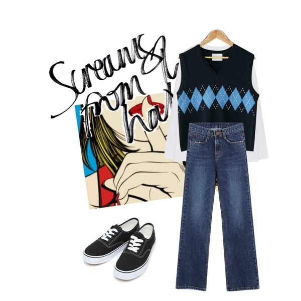SOLMYRA Picture, ssshh,@thewriting,common unique [TOP] LOOSE FIT DAILY LONG SLEEVE T등을 매치한 코디