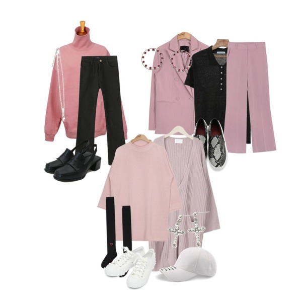 AIN howell straight double jacket (3 colors),From Beginning Turtle nappy unisex mtm_H (size : free),Reine 레디스 부츠컷 데님 팬츠등을 매치한 코디