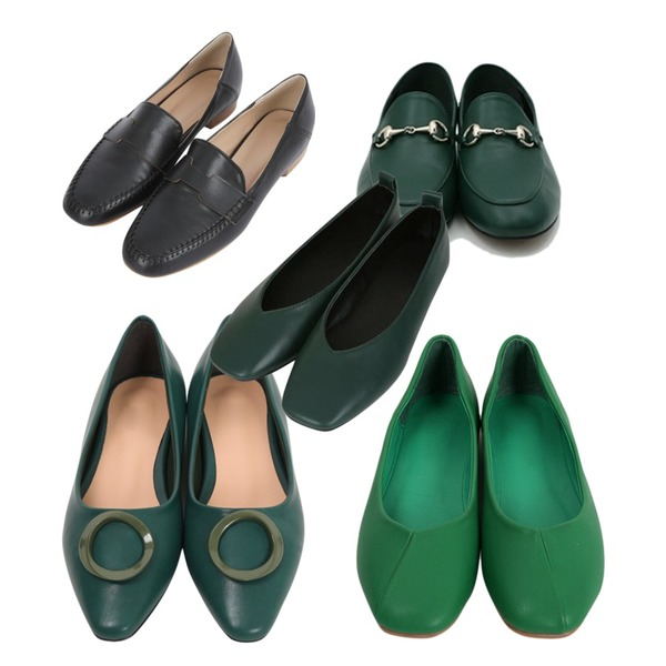 myblin 데일리 가죽 로퍼 (4color),From Beginning Line color flat shoes_K (size : 230,235,240,245,250),From Beginning Ring stiletto flat shoes_H (size : 225,230,235,240,245,250)[3월 중순 입고예정]등을 매치한 코디