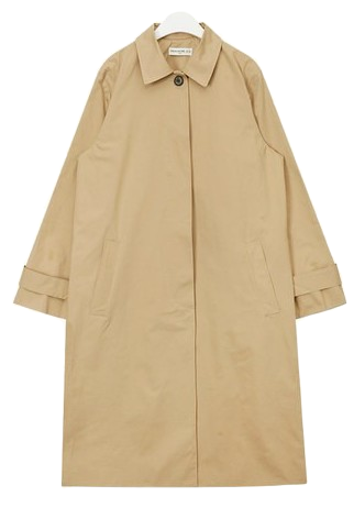 FRESH A modern single trench coat