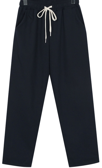 Band cotton baggy pants_H (size : free)