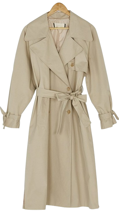 sleeve point trench coat