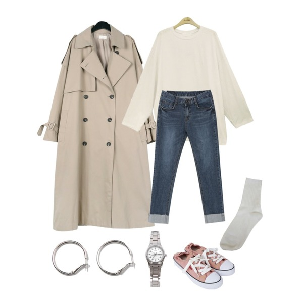 biznshoe LTP-VOO6D-7BUDF [5237],myblin 밴딩 스니커즈 (4color),daily monday Over casual trench coat등을 매치한 코디