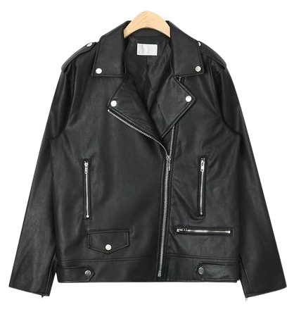 boxy fit unique rider jacket