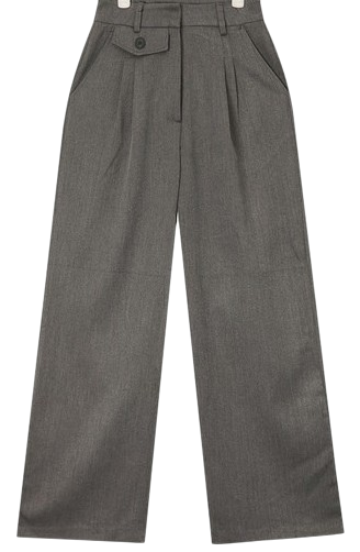 mannish wide slacks (s, m)