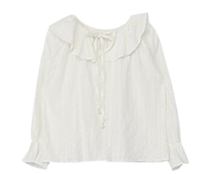 Off-shoulder frilly blouse
