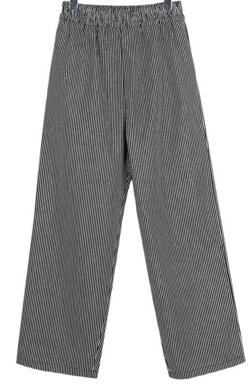 Unique stripe wide pants