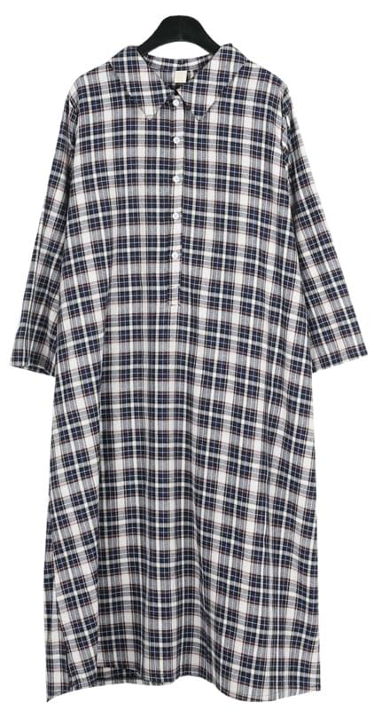 Vintage check shirts one-piece