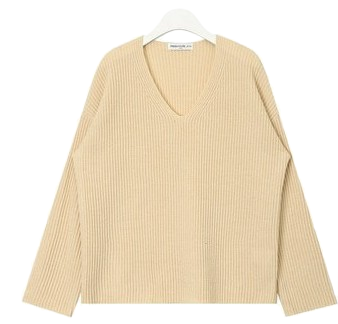 FRESH A soft v-neck knit