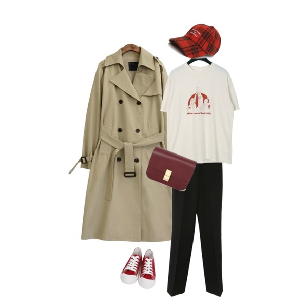 From Beginning Purcell cotton sneakers_M (size : 230,235,240,245,250),common unique [OUTER] CLASSIC CHIC TRENCH COAT,Zemma World 젠틀-밴딩슬렉스 (ver.슬림스트레이트)[size:S,M,L,XL-단독판매♥ / 3color]등을 매치한 코디