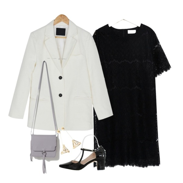 BANHARU usual cotton jacket,From Beginning Shine lace point ops_K (size : free),LOVELY SHOES 세턴 미들힐 펌프스 6cm등을 매치한 코디