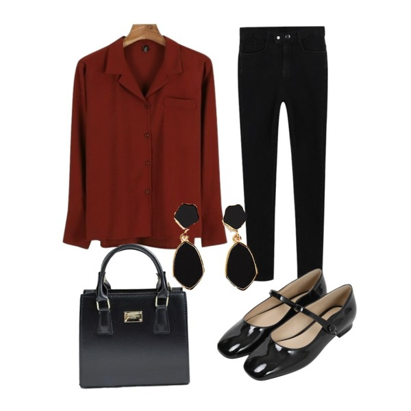daily monday High slim fit warm skinny,daily monday Daily autumn blouse,From Beginning Holly enamel mary-jane_M (size : 225,230,235,240,245,250)등을 매치한 코디