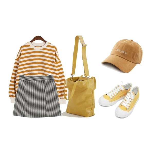 AIN basic monday sneakers (230-250),From Beginning Dazzling A-line check skirt_M (size : S,M),Dailyco 네오단가라맨투맨-mtm등을 매치한 코디