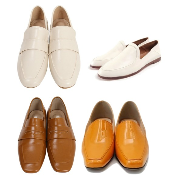 ROCOSIX daily wood loafer,From Beginning Slim toe penny Loafer_H (size : 230,235,240,245,250),From Beginning Moris basic loafer_K (size : 225,230,235,240,245,250)등을 매치한 코디