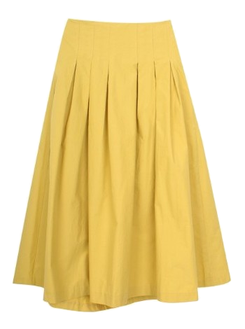 Flower color flared skirt
