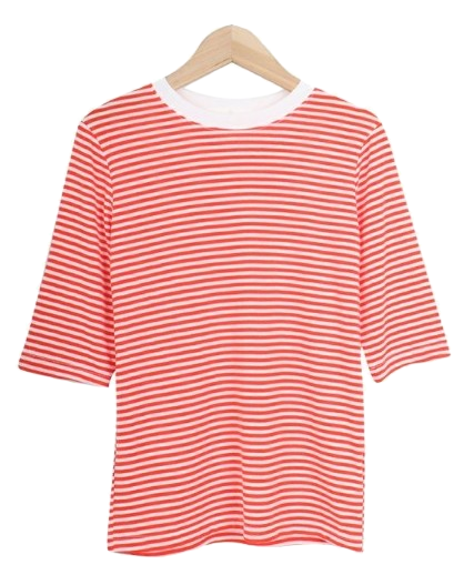 Striped five-tee