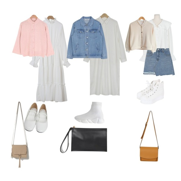 AIN unbalance cutting skirt (s, m),From Beginning Olive frill mini ops_B (size : free),From Beginning Bottle cotton shirts ops_M (size : free)등을 매치한 코디