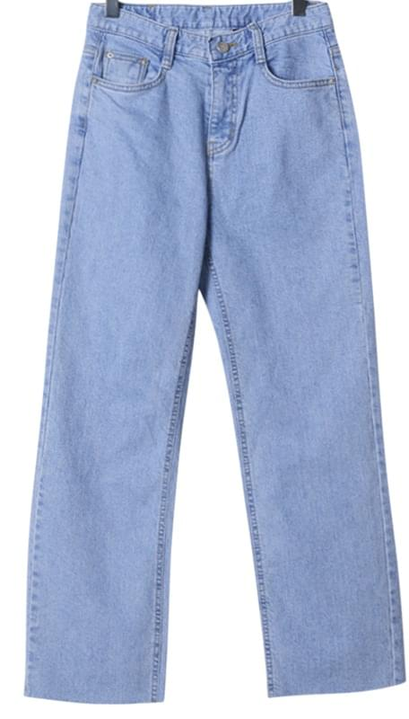 Ent Wide Fitted Denim Pants