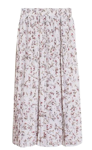 Rani Chiffon Pleat Flower Bending Midi Skirt