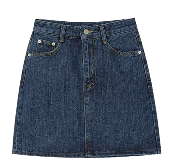 matter vintage denim skirt (s, m)