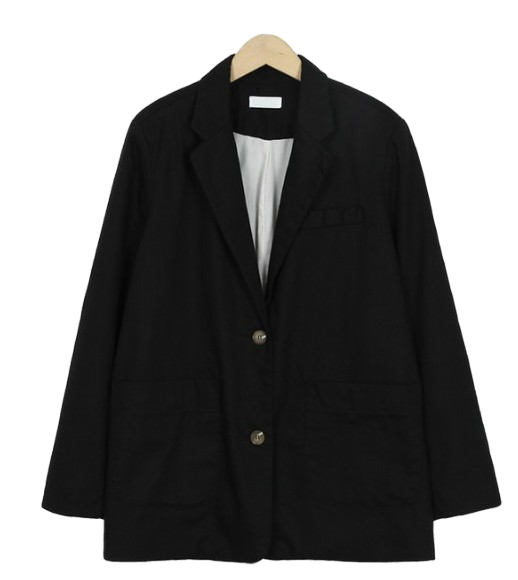 Work linen boy jacket_S (size : free)