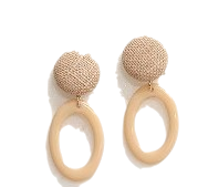 [JEWELRY] BUTTON O RING EARRING