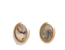 MARBLE GEMSTONE GOLD EARRING