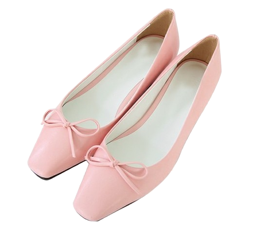 Present- middle heel flat shoes