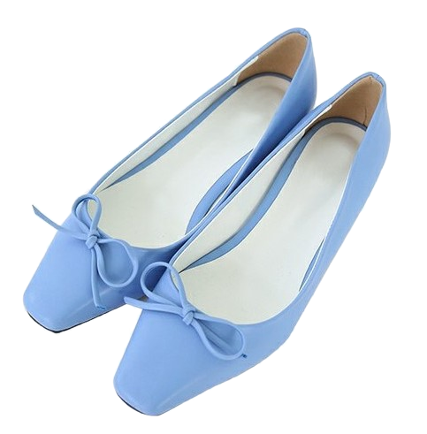 Present-Middle Heel Flat Shoes