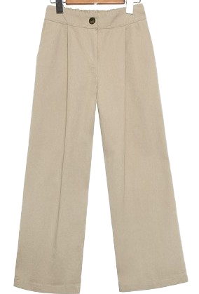 STRAIGHT WIDE COTTON PANTS