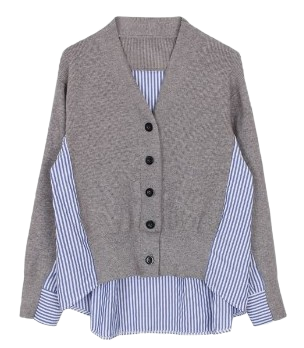 Back stripe cardigan