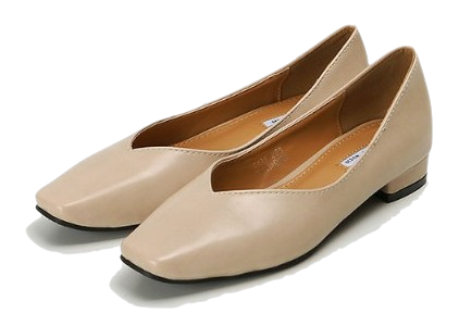square simple flat shoes (4colors)