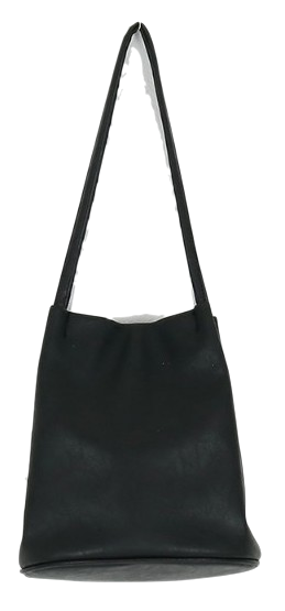 Black loose bucket shoulder bag