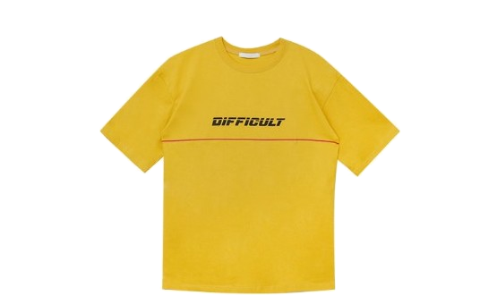 Difficult cultured shirt
