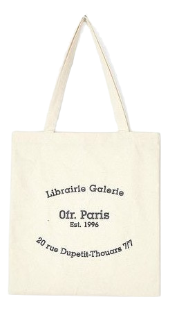 paris lettering eco bag