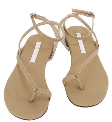 Simple angle strap sandals