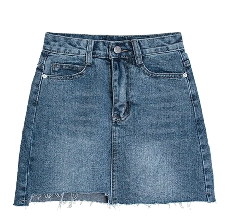 Circle vintage denim mini skirt