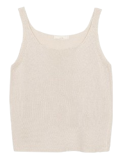 Square knit sleeveless (5color)