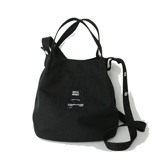 handy cotton bucket bag (4colors)