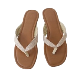 linen point flip flops (3colors)