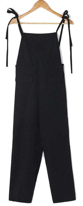 straight fit banding jump suit