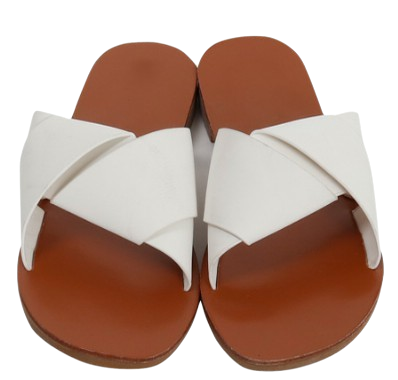 Ribbon cover flat slipper_H (size : 230,235,240,245,250)