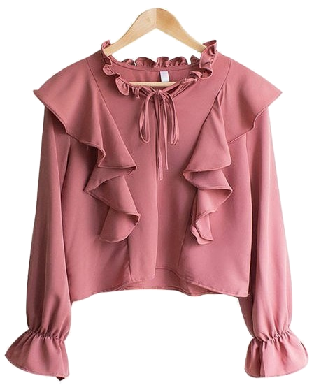[Planning Specials] Syndrome Ruffle Frill Ribbon Blouse