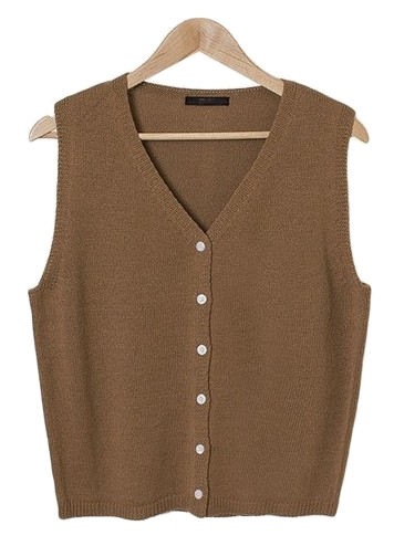 Easy Button V Neck Vest