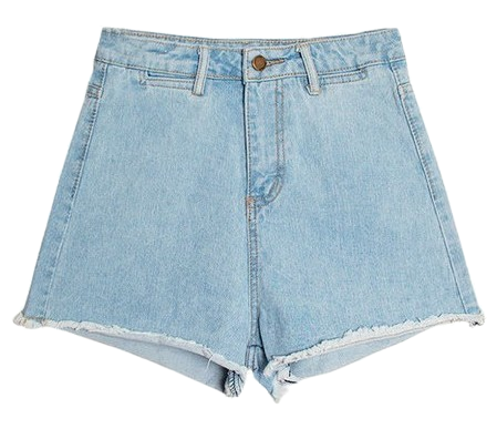 Ice Vintage Denim Short Pants [Casual / Daily / Vacations]
