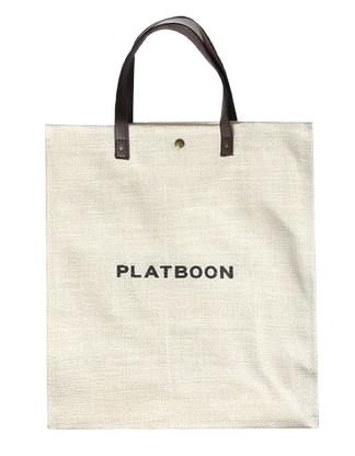 Flat straw eco bag