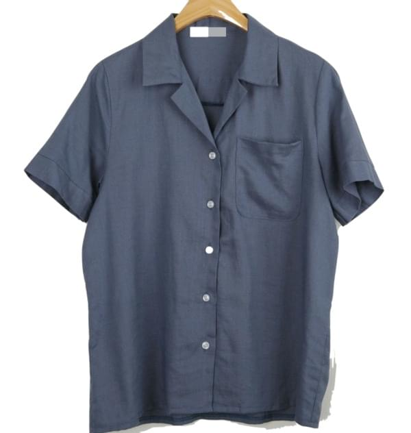 Sense blue linen short sleeves southern (2 colors)